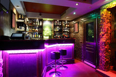 Bello interno europeo del night-club Fotografie Stock Libere da Diritti