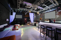 Bello interno europeo del night-club Fotografia Stock