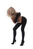 Bello istruttore di danza moderna della donna Fotografia Stock