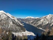 Bello lago Achensee nell'inverno, alpi dell'Austria nel Tirolo, Austria Fotografia Stock