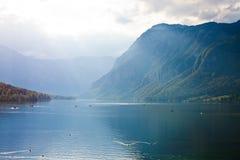 Bello lago in alpi slovene fotografie stock