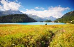 Bello lago alpino Fotografie Stock Libere da Diritti