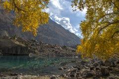 Bello lago in autunno Immagine Stock