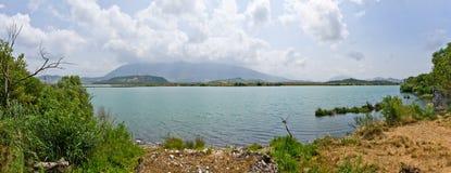 Bello lago in Butrint, Albania Fotografia Stock