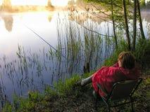 Bello lago della foresta Fotografia Stock