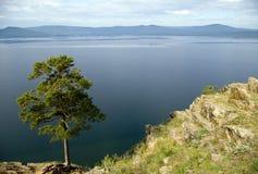 Bello lago della montagna. Fotografie Stock