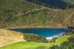 Bello lago di Sete Cidades, Azzorre, Portogallo Europa Immagine Stock Libera da Diritti