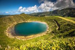 Bello lago di Sete Cidades, Azzorre, Portogallo Europa Immagine Stock