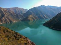 Bello lago Karasuu della montagna Fotografia Stock Libera da Diritti