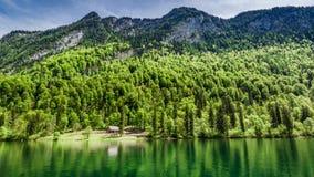 Bello lago Konigssee nelle alpi tedesche, Europa Fotografia Stock Libera da Diritti