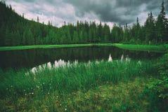 Bello lago mountain Immagine Stock
