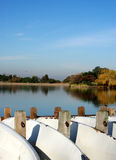 Bello lago nei colori di caduta immagini stock