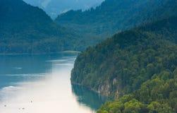 Bello lago nella foresta Immagine Stock