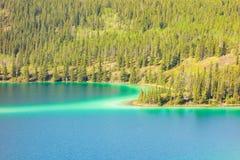 Bello lago verde smeraldo nell'Alaska Fotografia Stock Libera da Diritti