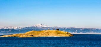 Bello lago in Xinjiang, Cina Sailimu Immagine Stock Libera da Diritti