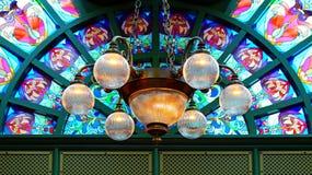 Bello lampadario a bracci Fotografia Stock