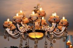 Bello lampadario a bracci antico Fotografia Stock