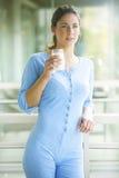 Bello latte alimentare castana fotografie stock libere da diritti