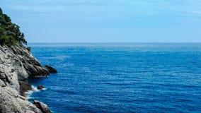 Bello litorale di mare fotografia stock libera da diritti