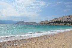 Bello mare adriatico di estate di 2015 immagine stock