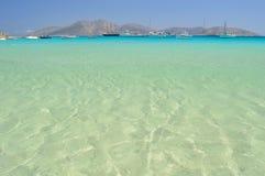 Bello mare all'isolotto di Koufonisia Pano, piccole Cicladi vicino a Naxo Immagine Stock Libera da Diritti