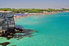 Bello mare in Apulia, Italia Fotografia Stock Libera da Diritti