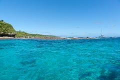 Bello mare del turchese da Sir Robert Wharf, Alofi, Niue Immagini Stock Libere da Diritti