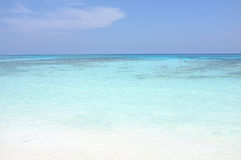 Bello mare della chiara acqua all'isola di Tachai, Phang Nga Tailandia Fotografia Stock Libera da Diritti