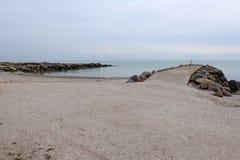 Bello mare di Azov della spiaggia Fotografia Stock Libera da Diritti