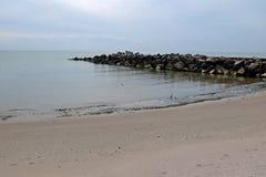 Bello mare di Azov della spiaggia Fotografia Stock