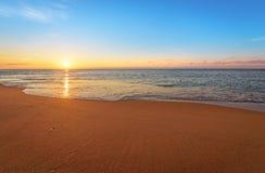 Bello mare di mattina Fotografia Stock