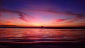 Bello mare pacifico dal Cile - il Sudamerica fotografie stock