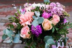 Bello mazzo dei fiori Fotografie Stock Libere da Diritti