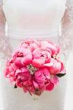 Bello mazzo dei fiori della peonia Fotografie Stock Libere da Diritti