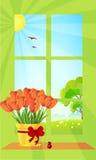 Bello mazzo dei tulipani Royalty Illustrazione gratis