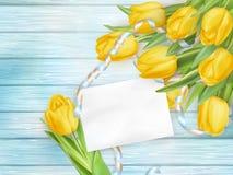 Bello mazzo dei tulipani ENV 10 Fotografie Stock