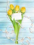 Bello mazzo dei tulipani ENV 10 Immagini Stock