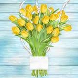 Bello mazzo dei tulipani ENV 10 Immagine Stock Libera da Diritti