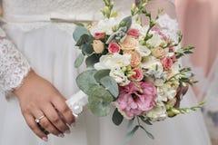 Bello mazzo di nozze dei fiori Fotografie Stock Libere da Diritti