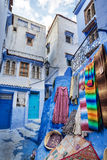 Bello Medina blu di Chefchaouen nel Marocco Immagine Stock Libera da Diritti