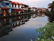 Bello Melaka - parte anteriore del fiume - la Malesia vero Asia fotografia stock