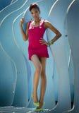 Bello modello afroamericano Fotografia Stock