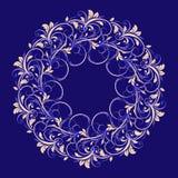 Bello modello circolare di floreale illustrazione di stock
