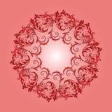 Bello modello circolare di floreale Immagine Stock