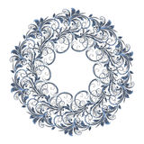 Bello modello circolare di floreale Fotografie Stock