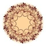 Bello modello circolare di floreale Fotografia Stock