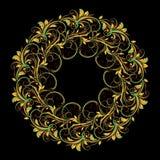 Bello modello circolare di floreale Fotografia Stock Libera da Diritti
