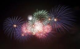 Bello modello dei fuochi d'artificio Fotografie Stock