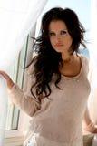 Bello modello del brunette Fotografia Stock
