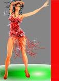 Bello modello di Dancing Fotografie Stock Libere da Diritti